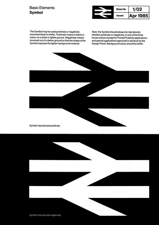 british rail corporate identity double arrow pti