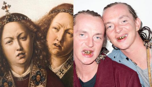 LEFT_Jan_van_Eyck_Ghent Altarpiece detail_1432_RIGHT_The ATL_Twins