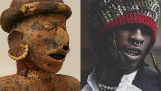 LEFT_Male_Ancestor_1st_4th_century_Mesoamerica_Nayarit_RIGHT_Young_Thug