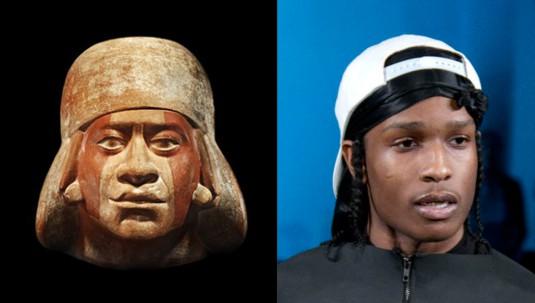 LEFT_Pre_Colombian_Moche_portrait_head_of_Cut_Lip_400AD_RIGHT_ASAP_Rocky