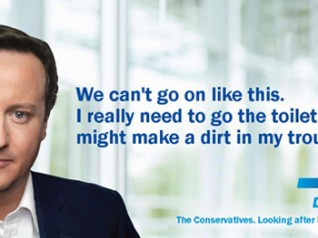 Andy Barefoot :: Make your own David Cameron poster