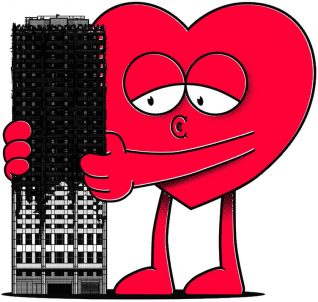 Artist Ronzo creates 'Hugs for Grenfell' prints