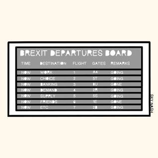 The Keen Eye :: Brexit Departures Board