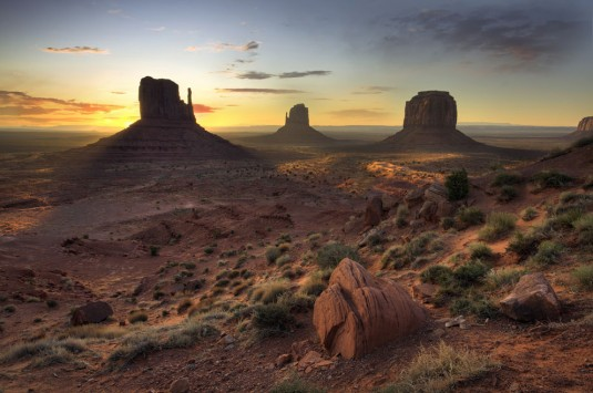 A Land Before Time. Monument Valley, Sunrise. For four mornings in a row I was up well before dawn and drove from Mexican Hat, Utah (30 mi) to try and get the shot I was after—Jared Marshall