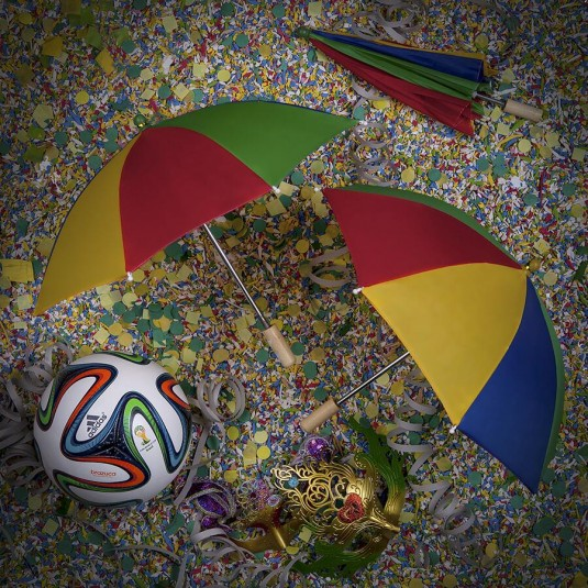 Brazuca _Mar 1_It's hard to dance the frevo when you have no arms, but I'm doing my best. Rolling around in confetti may have to do.