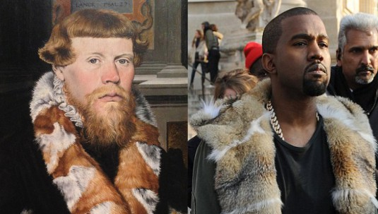 LEFT_detail_of_Christ_Blessing_surrounded_by_a_Donor_Family_German_Painter_1560_RIGHT_Kanye_West