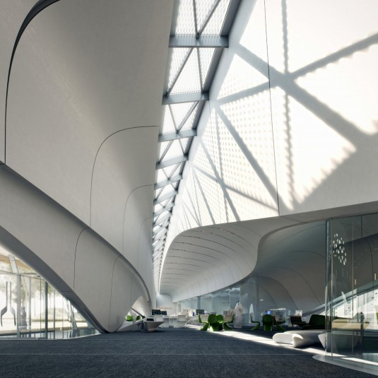 zaha hadid_beeah_light_and_curves